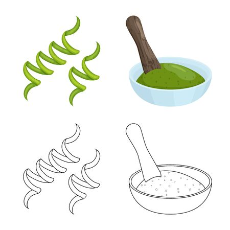 Isolated object of protein and sea. Set of protein and natural vector icon for stock. 写真素材 - 129734777