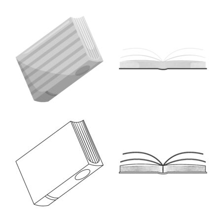 Isolated object of training and cover. Set of training and bookstore vector icon for stock. Banco de Imagens - 129734782