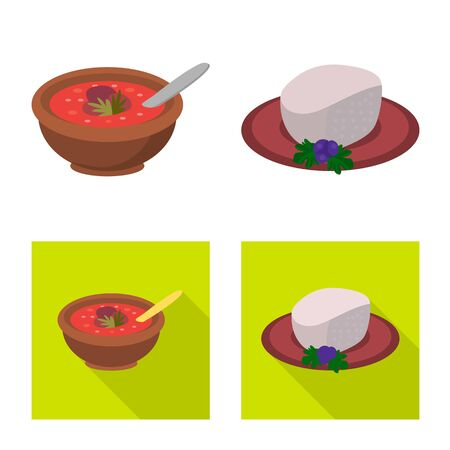 Isolated object of culture and sightseeing icon. Collection of culture and originality vector icon for stock.