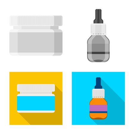 Vector design of retail and healthcare icon. Set of retail and wellness stock symbol for web.