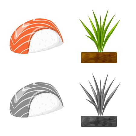 Vector illustration of crop and ecological icon. Collection of crop and cooking stock vector illustration. Archivio Fotografico - 129734825