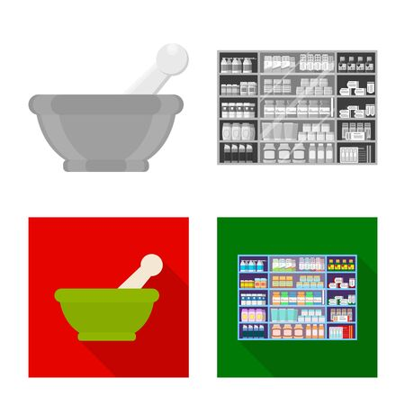 Vector design of retail and healthcare. Set of retail and wellness stock symbol for web. 写真素材 - 129734829