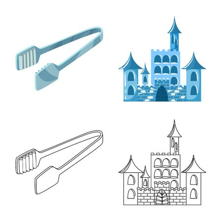 Vector illustration of texture and frozen icon. Collection of texture and transparent vector icon for stock. Illustration