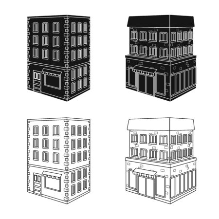 Vector design of construction and building icon. Set of construction and estate vector icon for stock.  イラスト・ベクター素材