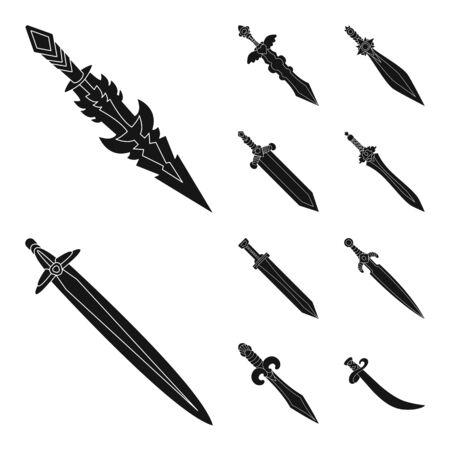 Vector illustration of sharp and blade. Set of sharp and dagger stock symbol for web. Illusztráció