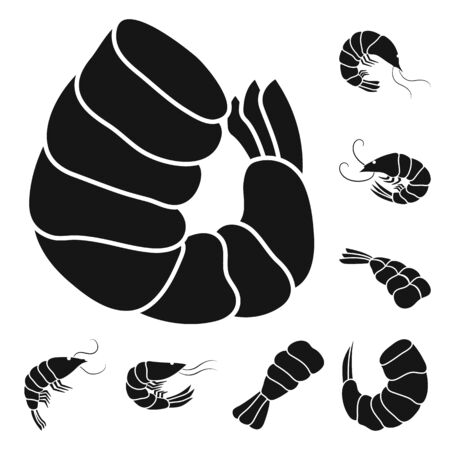 Vector design of meat and delicacy symbol. Set of meat and crab vector icon for stock.