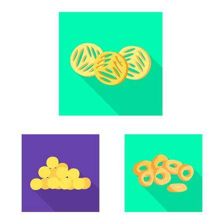 Vector illustration of Oktoberfest and bar icon. Collection of Oktoberfest and cooking vector icon for stock.