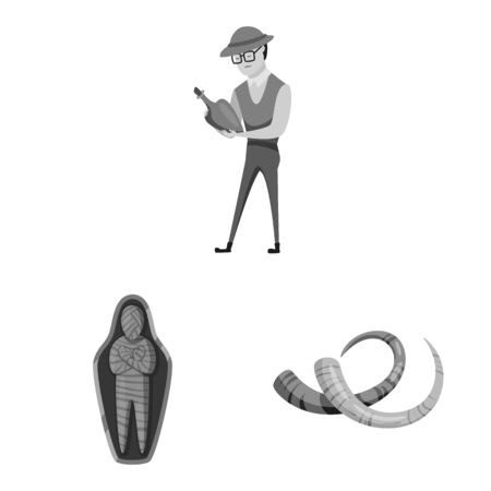 Vector design of story and discovery. Collection of story and items stock symbol for web. Иллюстрация