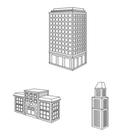 Vector illustration of home and apartment icon. Collection of home and modern vector icon for stock.