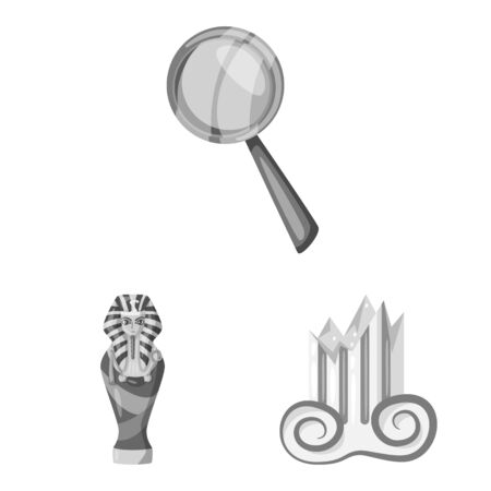 Isolated object of story and discovery symbol. Collection of story and items vector icon for stock.