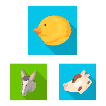Vector illustration of agriculture and breeding sign. Collection of agriculture and organic vector icon for stock.
