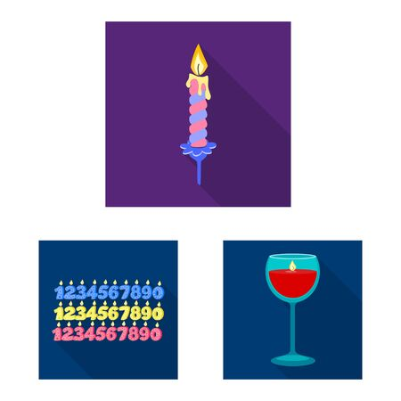 Vector design of candlelight and decoration. Collection of candlelight and flame stock vector illustration.