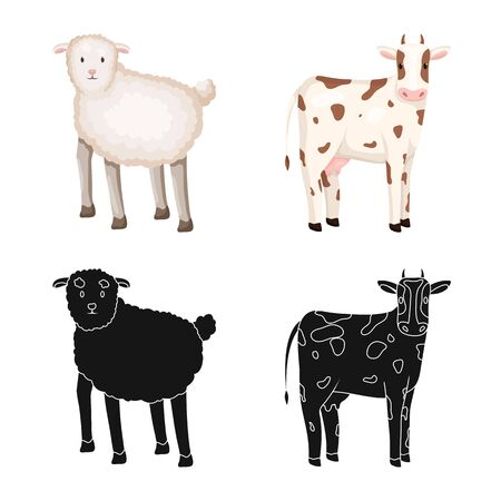 Isolated object of breeding and kitchen. Set of breeding and organic vector icon for stock. 일러스트