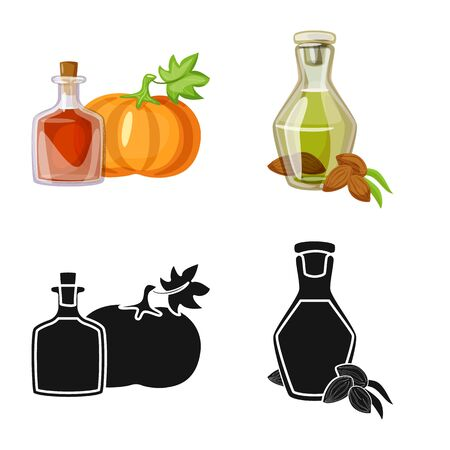 Vector illustration of healthy and vegetable. Set of healthy and agriculture stock symbol for web.