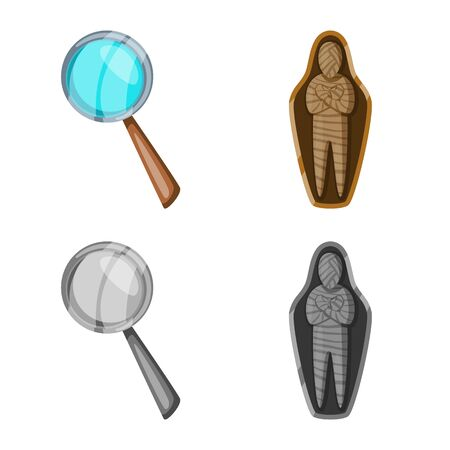 Vector design of story and items icon. Set of story and attributes vector icon for stock. Ilustracja