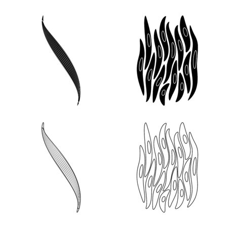 Isolated object of fiber and muscular icon. Set of fiber and body vector icon for stock. Illustration