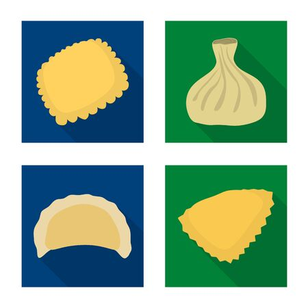 Isolated object of products and cooking. Collection of products and appetizer stock symbol for web.