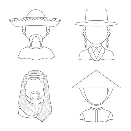 Vector design of imitator and resident icon. Collection of imitator and culture vector icon for stock. Ilustracja