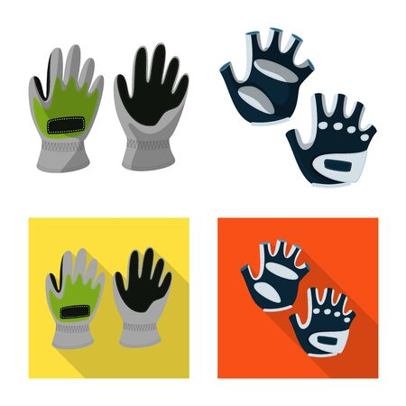 Vector illustration of silhouette and safety sign. Collection of silhouette and comfort vector icon for stock. Иллюстрация