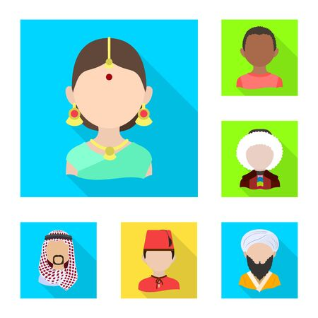 Vector design of nation and race sign. Collection of nation and user stock vector illustration.