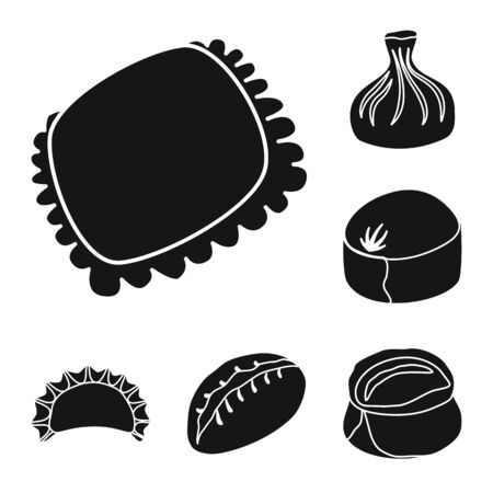 Vector illustration of cuisine and appetizer icon. Collection of cuisine and food stock symbol for web.