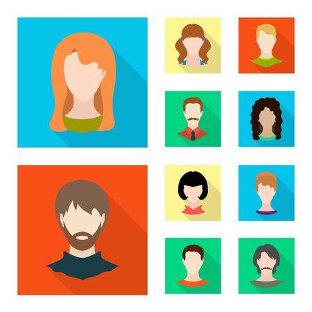 Vector illustration of avatar and dummy icon. Collection of avatar and figure stock vector illustration.  イラスト・ベクター素材