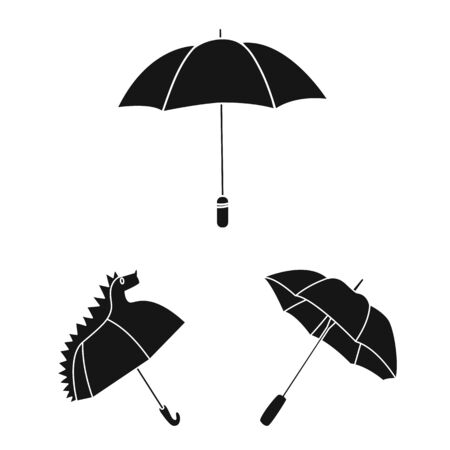 Isolated object of weather and rainy symbol. Collection of weather and rain stock vector illustration.