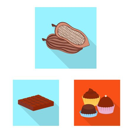 Vector illustration of treat and product . Collection of treat and yummy stock vector illustration. Imagens - 129849620