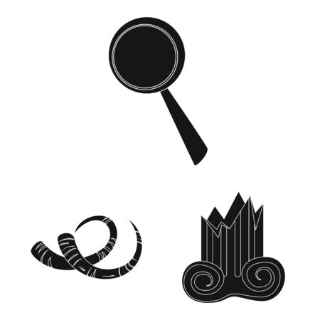 Vector illustration of museum and attributes symbol. Collection of museum and historical stock vector illustration.