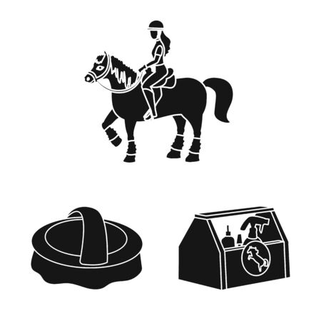 Vector design of sport and competition symbol. Collection of sport and equestrian stock vector illustration.