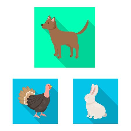 Vector design of breeding and kitchen . Set of breeding and organic vector icon for stock.  イラスト・ベクター素材