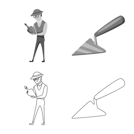 Vector design of story and items icon. Collection of story and attributes vector icon for stock.