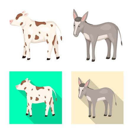 Isolated object of breeding and kitchen icon. Collection of breeding and organic stock symbol for web.