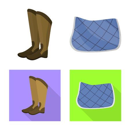 Isolated object of equipment and riding . Collection of equipment and competition vector icon for stock.