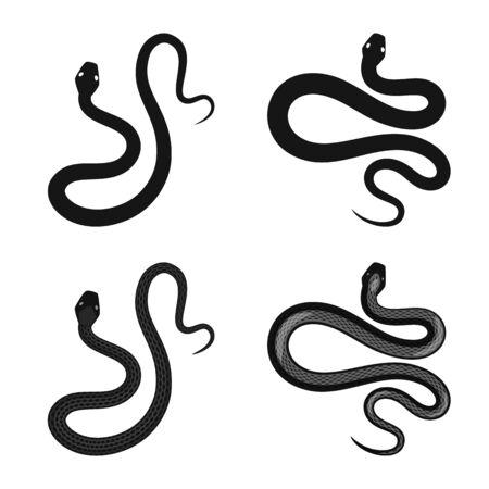 Vector illustration of mammal and danger symbol. Collection of mammal and medicine stock symbol for web. Stockfoto - 129853477