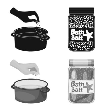 Isolated object of cooking and sea icon. Collection of cooking and baking vector icon for stock.