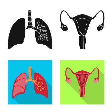 Objeto aislado de biología y símbolo científico. Conjunto de símbolo de stock de biología y laboratorio para web.