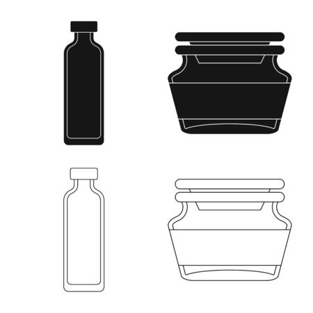 Vector design of retail and healthcare icon. Collection of retail and wellness stock symbol for web.