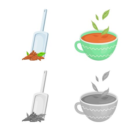 Isolated object of healthy and floral symbol. Set of healthy and gradient vector icon for stock.
