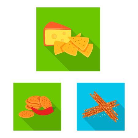 Vector design of taste and seasonin symbol. Set of taste and organic stock vector illustration. Иллюстрация