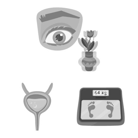 Vector illustration of health and diet icon. Collection of health and disease stock vector illustration.