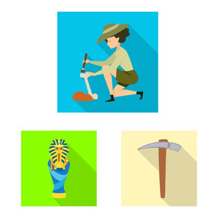 Vector illustration of story and items icon. Set of story and attributes vector icon for stock.
