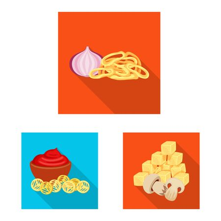 Vector design of taste and seasonin sign. Collection of taste and organic vector icon for stock.