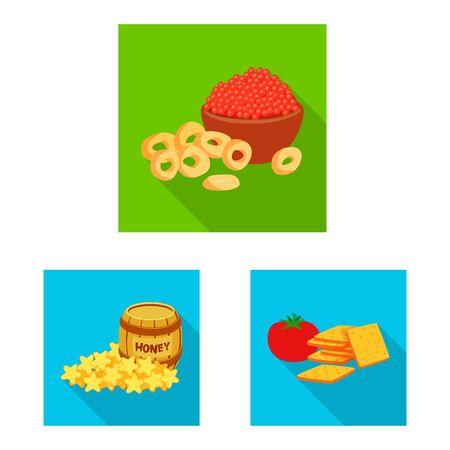 Vector design of taste and seasonin symbol. Collection of taste and organic stock symbol for web. Ilustração