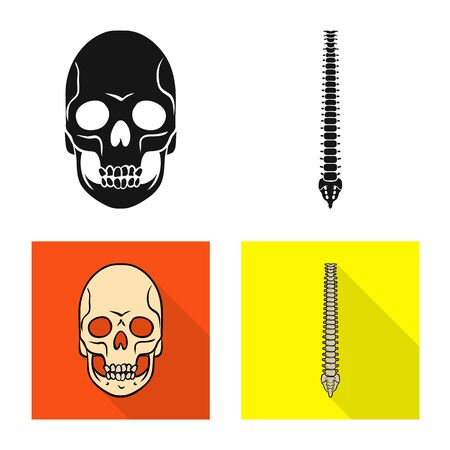 Isolated object of medicine and clinic symbol. Set of medicine and medical vector icon for stock.  イラスト・ベクター素材