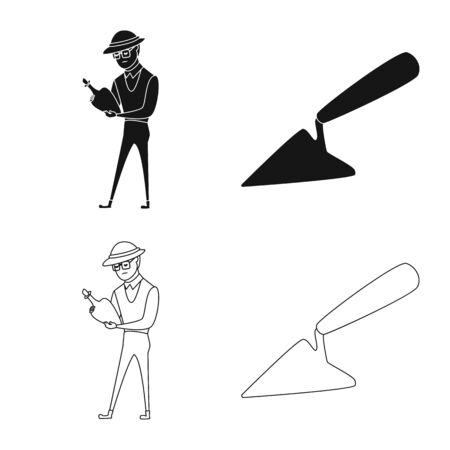 Isolated object of story and items icon. Set of story and attributes stock vector illustration. Иллюстрация