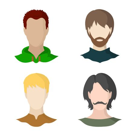 Vector design of avatar and dummy. Collection of avatar and figure stock vector illustration.