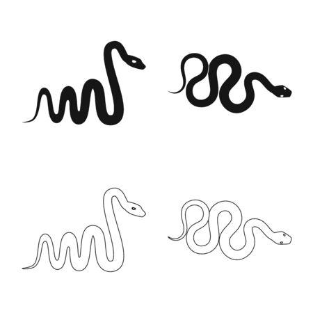 Vector illustration of mammal and danger symbol. Collection of mammal and medicine vector icon for stock.