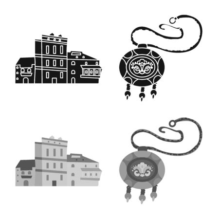 Vector illustration of culture and sightseeing symbol. Collection of culture and originality stock vector illustration.