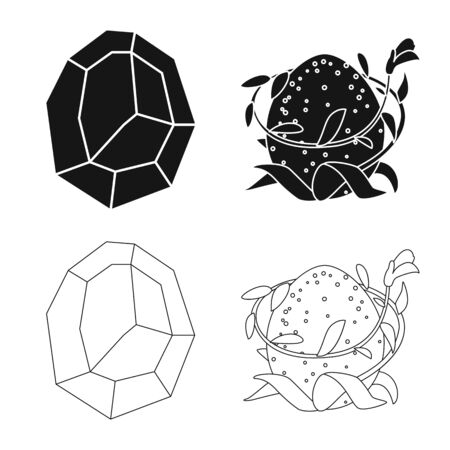 Vector design of animal and prehistoric. Collection of animal and cute vector icon for stock. Ilustração